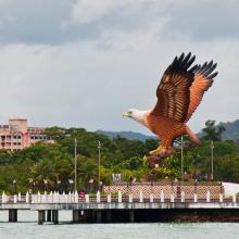 große Außen Skulptur Metall Handwerk Bronze Adler Statue Malaysia