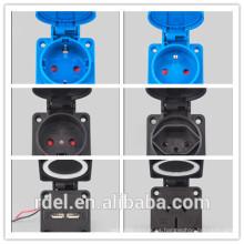 LP-032 16A-9H 200-250V 3P + E IP44 CE ACOPLADOR DE ENCHUFE INDUSTRIAL