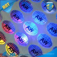 Etiqueta de holograma anti-falsificação de tinta uv / holograma 3D