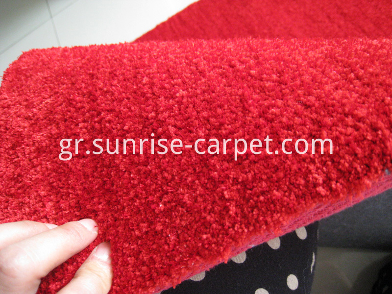 Microfiber with Polyester Carpet with Short Pile red