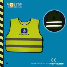Coletes reflexivas amarelas da segurança, veste reflexiva da visibilidade alta, running