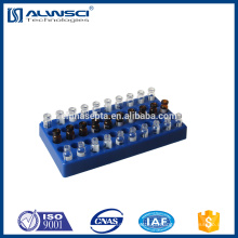 cremalheira de polipropileno azul 2ml hplc vial rack com 50 posições