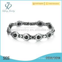 Nova pulseira de aço inoxidável, pulseira de olhos, pulseira mini