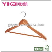 green health wooden cedar coat hangers with round bar