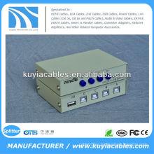 Manual 4 puertos USB 2.0 Escáner de PC Compartir impresora compartimiento de conmutación