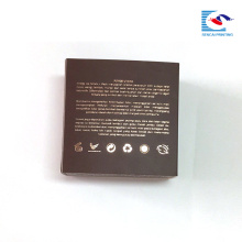 customized rose hot stamping logo square cosmetic cream art paper box with round insert