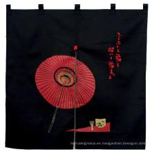 Promocional personalizado por el paraguas negro impreso Tc japonés cortina de puerta Noren