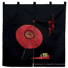 Promocionais Custom Made Black Umbrella Impresso Tc Japonês Porta Cortina Noren