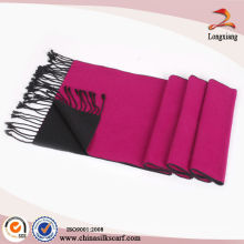 Tissé à carreaux brossé foulard en soie couleur solide