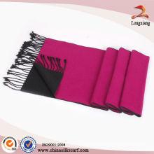 Tecido de xadrez escovado lenço de seda cor sólida