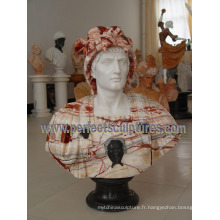 Stone Marble Sculpture Head Buste pour Statue Figurine (SY-S311)
