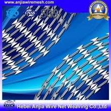 Electro Galvanized Iron Razor Barbed Wire for Security Fencing with ISO9001