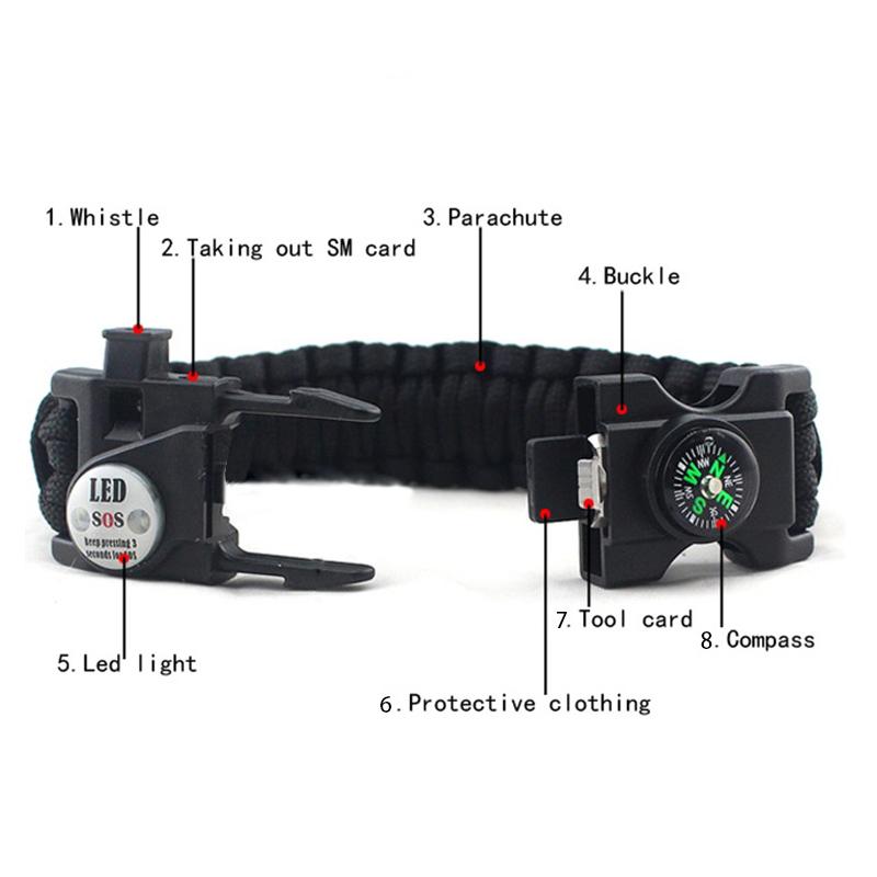 Camping Paracord Bracelet