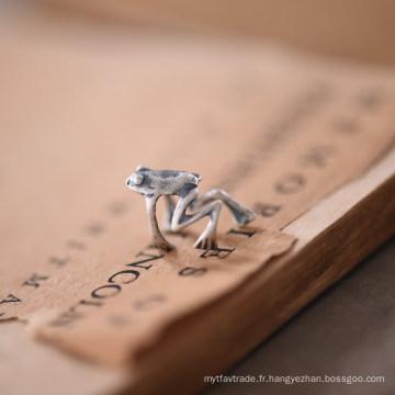 Handmad 925 Sterling Silver Pas de Piercing Frog boucles d'oreilles clip Steampunk Stylized
