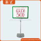 Metal Display Sign Stand With A4 Plastic Frame