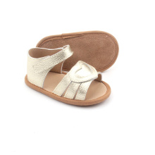 Borong Handmade Flat Soft Leather Sandals Girl Baby