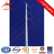 Galvanización de poste de transmisión de acero octogonal