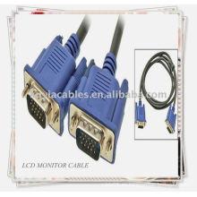 Cable de monitor VGA de 15 pines SVGA a macho M / M Cable del monitor