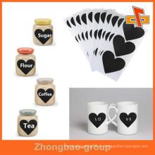 Plastic Adhesive Private Design Logo Printing Label Marken für Cup