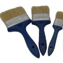 Natural white bristle mixed synthetic filament Solid Plastic Handle Paint Brushes
