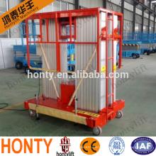 material lifting platform/cleaning aluminum stage platform lift platform / aluminum cleaning lift platform adjustable