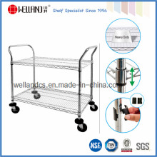 NSF Chrome Industrial Metal Wire Trolley (TR754590A3W2)