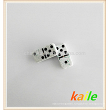 Double six Green Marble Effect domino