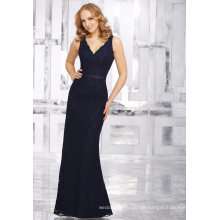 Schwarze rückenfreie Spitze Mantel Abend Cocktail Bridal Brautjungfer Kleid