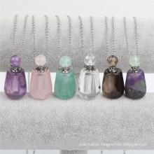 Wholesale Natural Gemstone Fashion Unique Perfume Bottle Pendant Necklace