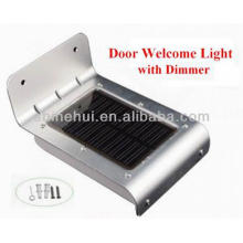 Good Quality CE, ROHS and IP65 Approval Solar LED Front Door Light With Sound Control And Light Sensor