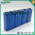Primary Lithium 9v battery 1200mAh