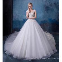 Роскошные бисером свадебное платье свадебное платье