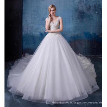 Robe de mariée de luxe perlée robe de mariée