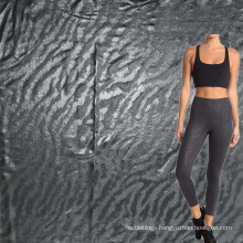 high elastic wicking spandex polyester embossed tiger designs leggings fabric for sports