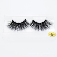 3D 5D 25mm 100% Real Mink Hair Eyelash Wholesale with Private Logo Label Customized Package Box
