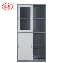 China factory KD steel office furniture thin line cross color cabinet storage solution