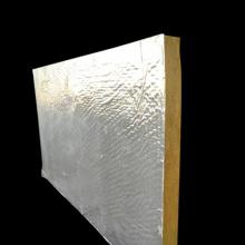 Placa de lã de rocha de isolamento de folha de alumínio