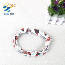 Spring colorful fashion printed polyester headbands