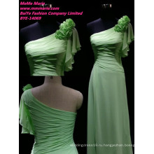 Шифон дамы вечернее платье одно плечо вечернее носить платье онлайн баю-14069