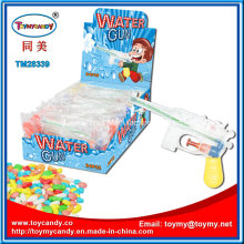 Cheap Plastic Small Transparent Water Gun Toy with Candy