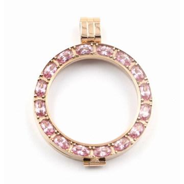 le plus récent pendentif de médaillon d'acier inoxydable de la conception 316L avec de grandes pierres ovales