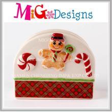 Приятный рождественский имбирь Хлеб Керамический салфеткой Украшение