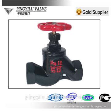 Ventile grau Eisen Globe Ventil PN16 Make-up China Lieferant mit Preis