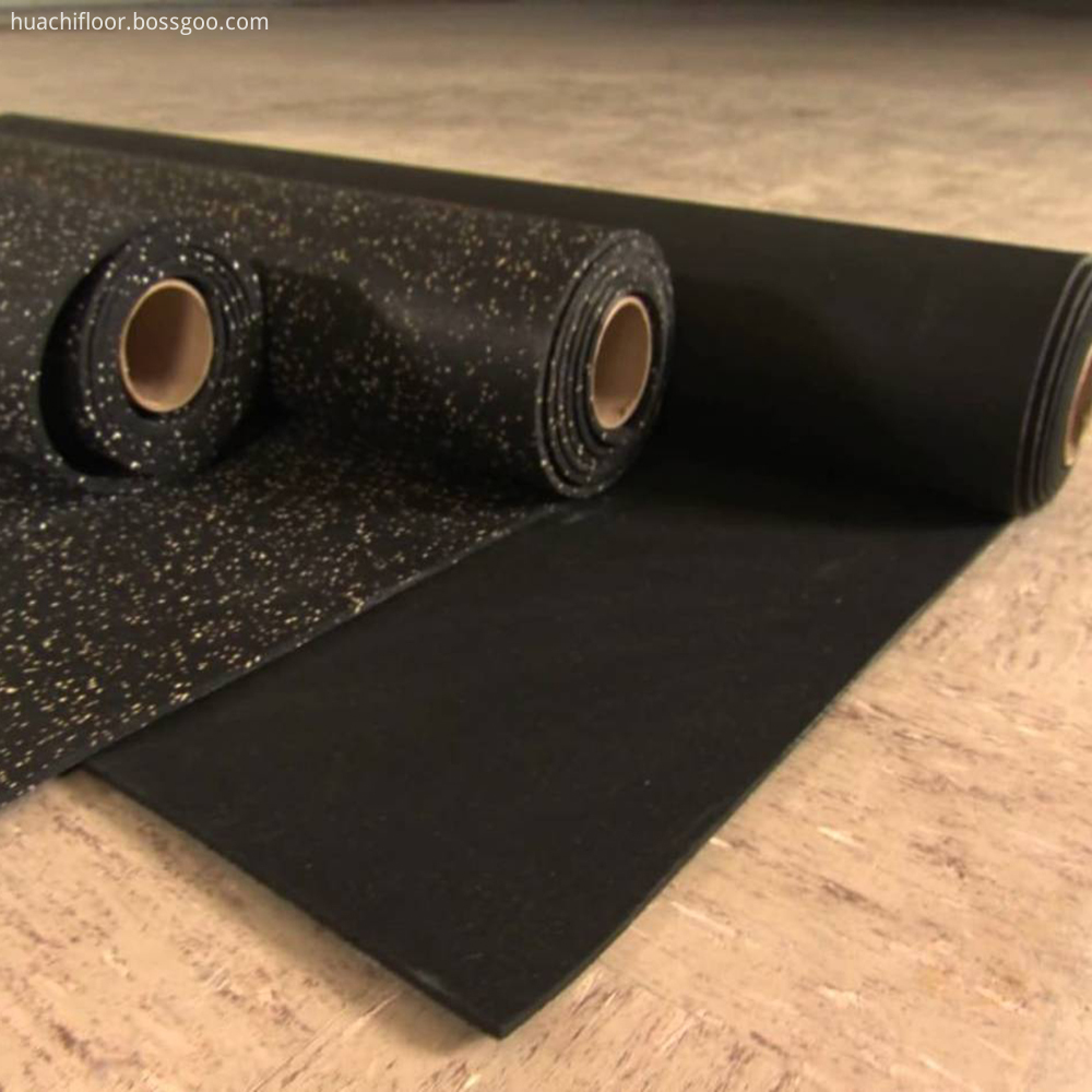 Shock Absorbing Rolled Rubber Flooring