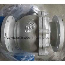 Acero al carbono Wcb Palanca de la válvula de bola de funcionamiento