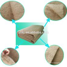 Поставка фабрики термальный скрепленный нетканый 100%верблюжья шерсть ватин для одеяла