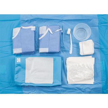 Pack de drap de chirurgie de laparoscopie jetable