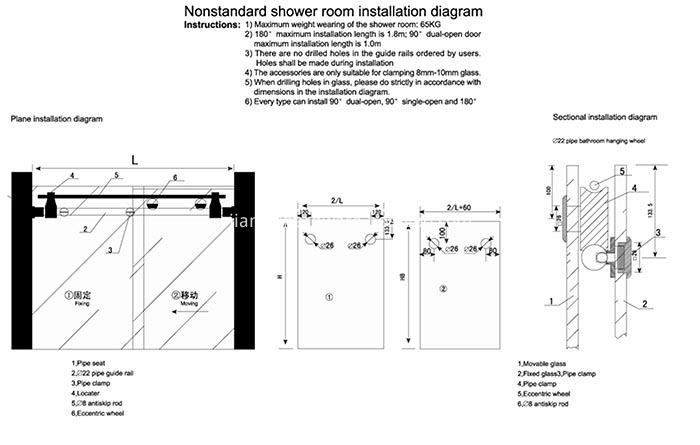 New Designed Sliding Glass Showr Door