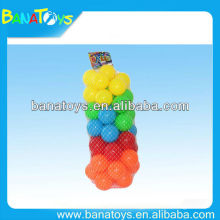 Colorful 7.5 cm HDPE ocean ball toy