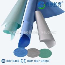 Papier crêpé de stérilisation médicale pour les bandages chirurgicaux